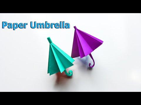 How To Make A Paper Umbrella   Diy Paper Umbrella Making   Origami Umbrella   Diy Cool Hacks