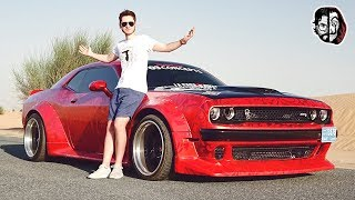 "Dodge Challenger SRT Hellcat fana ""Domu z papieru"" #VlogDubai"