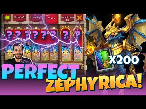 200 Superior Traits And 200,000 Gems For A PERFECT Zypherica! Castle Clash