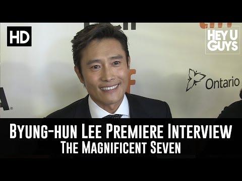 Byung hun Lee Magnificent Seven World Premiere Interview (Korean) (TIFF 2016)