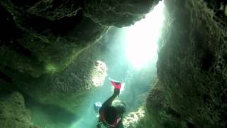 Dykking Mallorca Cave dive Porto Pi, with Big Blue Diving