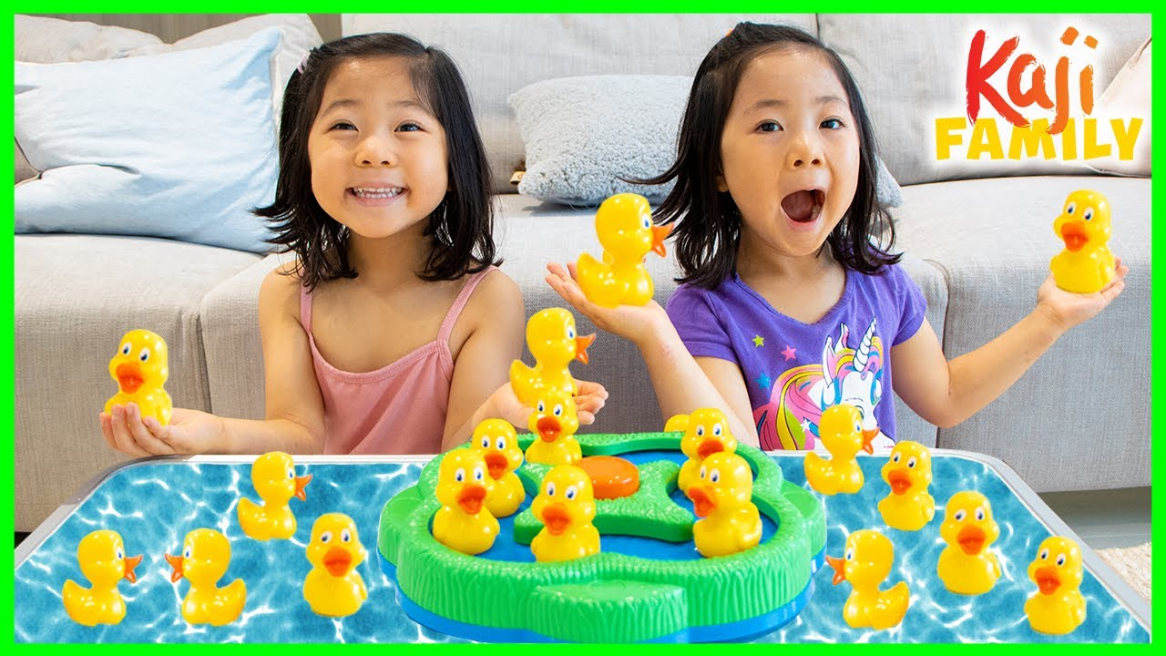 Emma and Kate play Lucky Ducks Board Game!