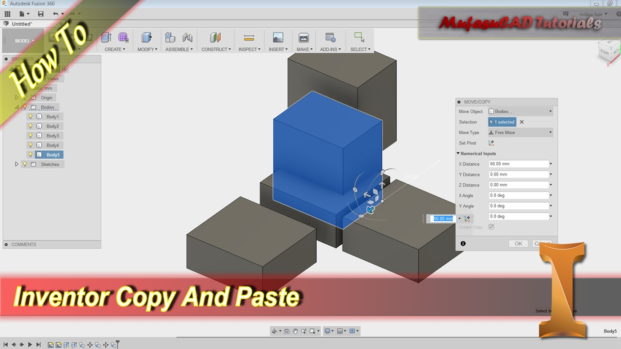 Fusion 360 How To Copy And Paste