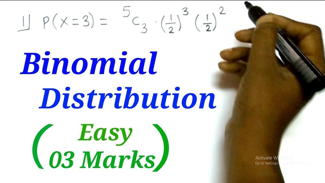 Binomial Distribution | Probability | Mathematics | 03-04 Marks | HSC(12th) Science, Commerce &