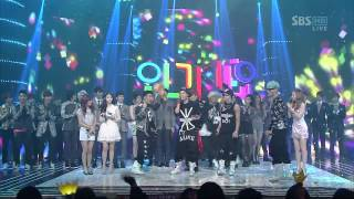 뮤티즌 송 BIG BANG [BLUE] @SBS Inkigayo 인기가요 20120318