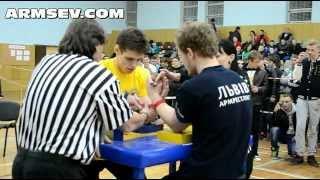 Чемпионат Украины по арму среди молод. фин левая