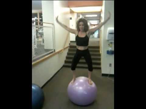 Calisthenics/Yoga Style workout on Top of Gym Ball:Core Fitness BALLZERCISE