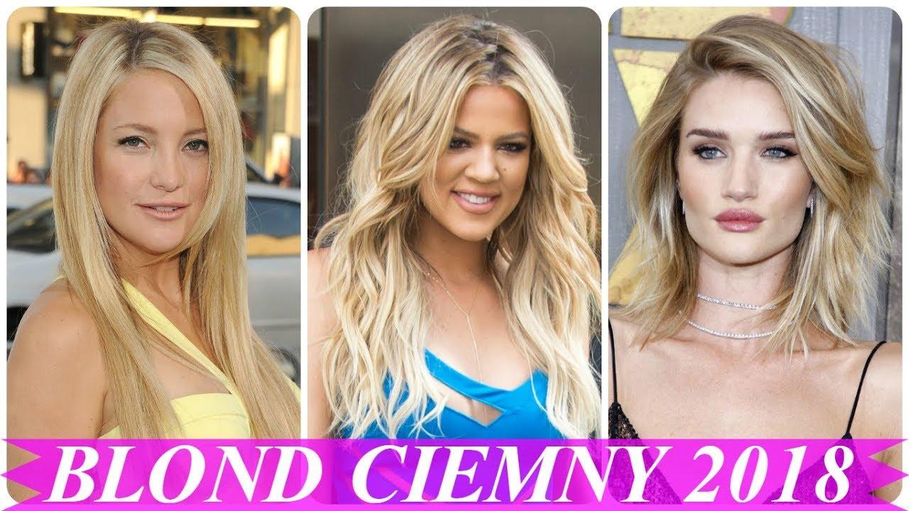 Pasemka Blond Na Ciemnych Włosach 2018