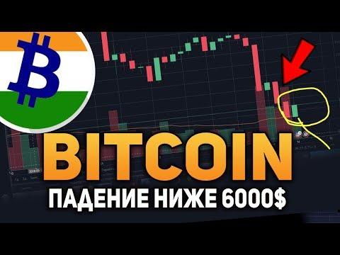 Биткоин Ниже 6000$ Индия Отменит Запрет на Bitcoin Июнь 2018 Прогноз