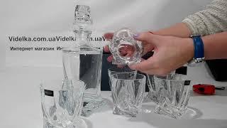 Набор для виски Bohemia Quadro 7 предметов - обзор