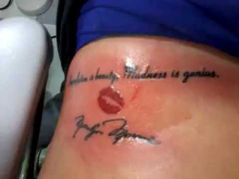 marilyn monroe tattoo - YouTube