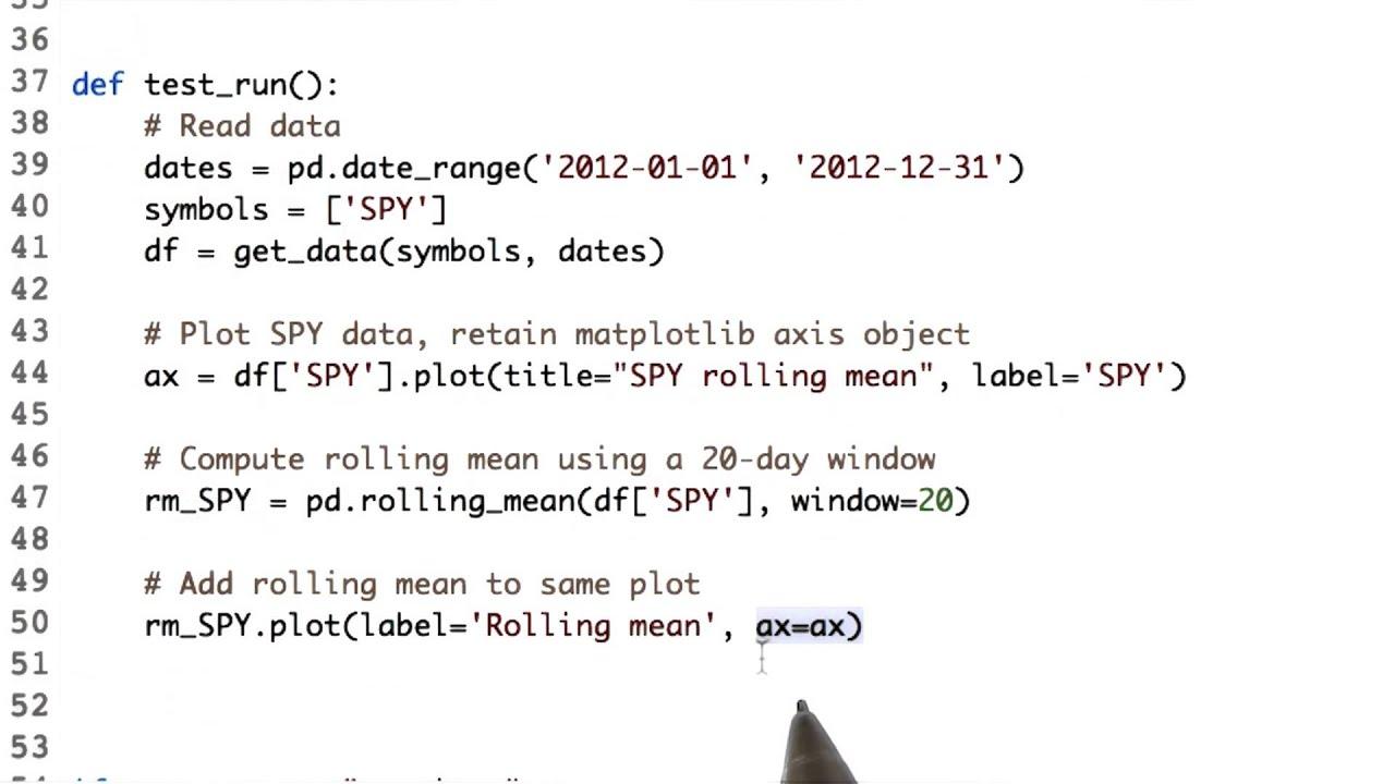 Computing rolling statistics
