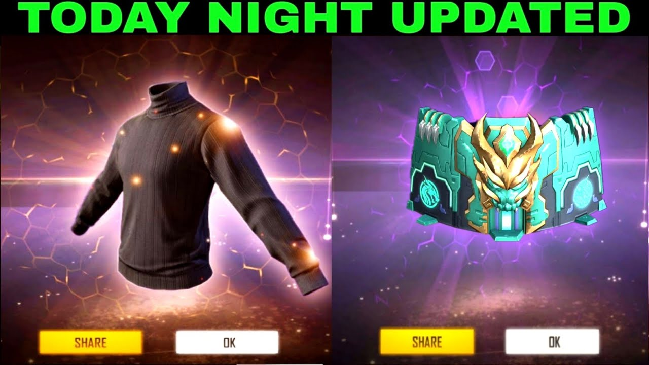Today night updated new top-up events Black T-shirt Return in free fire Store Gaming