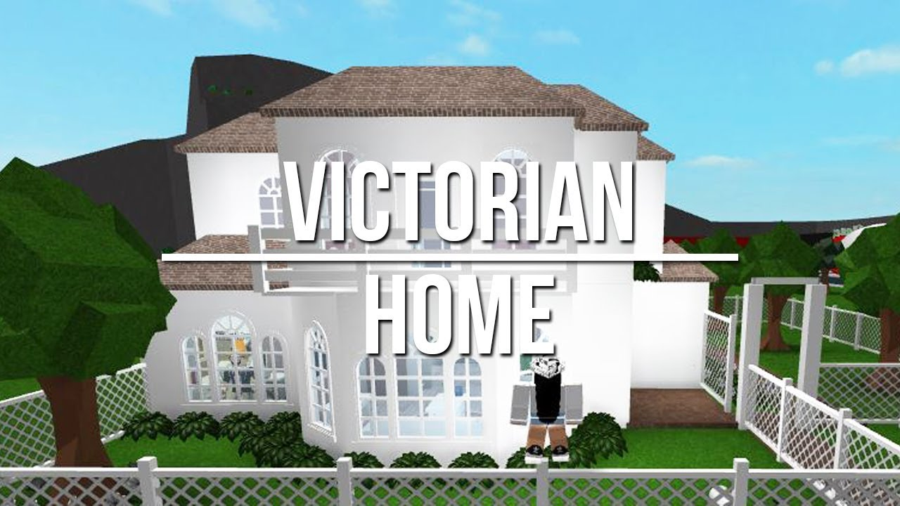 Roblox welcome to bloxburg victorian home 77k youtube for How to build a victorian house