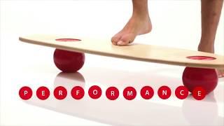 Produktvideo zu Gleichgewichtstrainer mit zwei Bällen Togu Balanza Freeride
