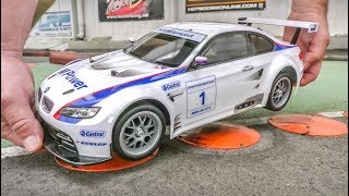 RC Car BMW M3 GT2 gets unboxed and tested! Tamiya 1/10 scale!