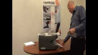 Martin Yale 1611 Auto Friction Paper Folder Demo