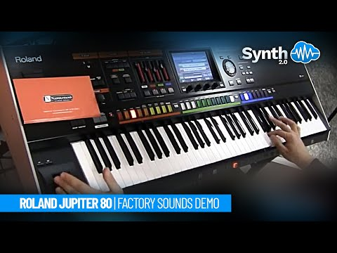 Roland Jupiter 80 Jp-80 performance synth demo performed by Synth Cloud