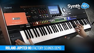Roland Jupiter 80 Jp-80 performance synth demo, performed by S4K ( Synthonia Performer )