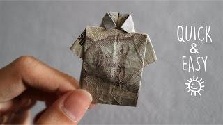 MENYULAP UANG MENJADI BAJU ORIGAMI | HOW TO MAKE T-SHIRT ORIGAMI FROM MONEY