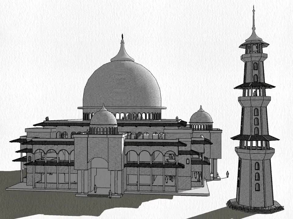Google Sketchup 3d Models Mosque 3d Tour Youtube