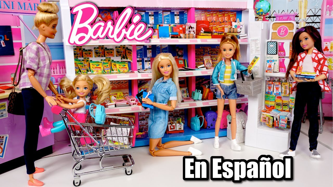Familia Barbie Compra Nuevos Utiles Escolares Miniatura - Juguetes de Titi