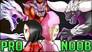 TRIPLE TEMPERED ELDER - Pro and Noob VS Monster Hunter World Multiplayer! (Sapphire Star's Guidance)
