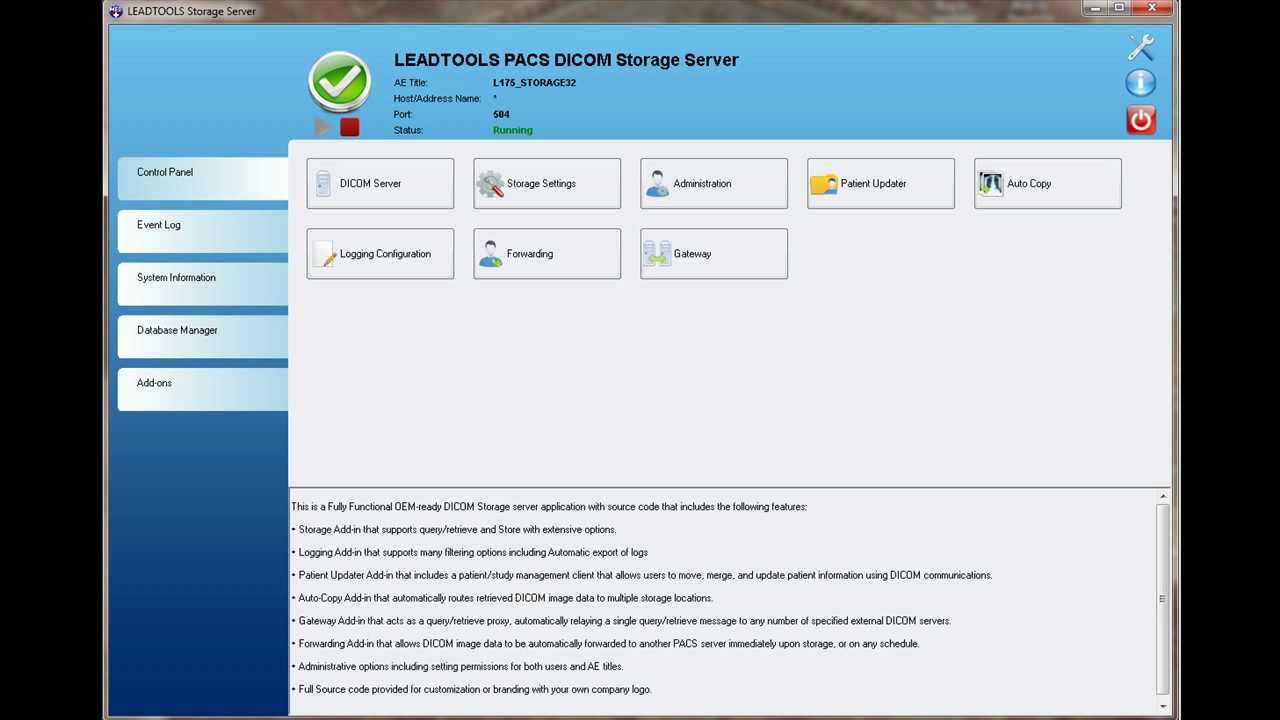 DICOM Storage Server V17 5