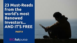 23 must reads from the worlds most renowned investors Part 2