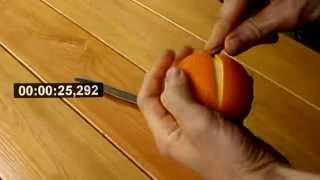 THE QUICKEST & CLEANEST WAY TO PEEL AN ORANGE