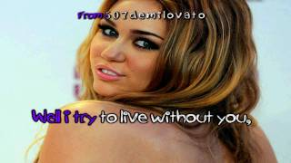 Miley Cyrus Stay Karaoke (HD)