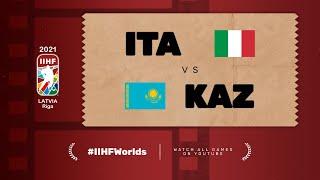 Highlights: ITALY vs KAZAKHSTAN | 2021 #IIHFWorlds