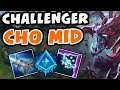 Challenger CHO'GATH MID Commentary | Glacial Augment Cho'gath - League of Legends