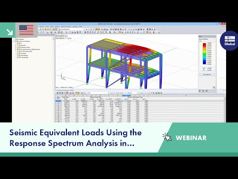 Dlubal Webinar: Seismic Equivalent Loads Using the Response Spectrum Analysis in RFEM (USA)