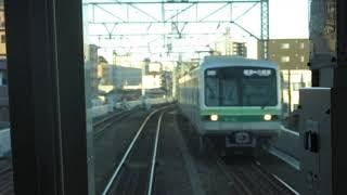 【前面展望】東京メトロ千代田線 綾瀬駅~北綾瀬駅