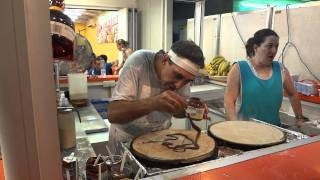 Julio Crazy Pancake man, Alcudia Mallorca July 2011 by Artur