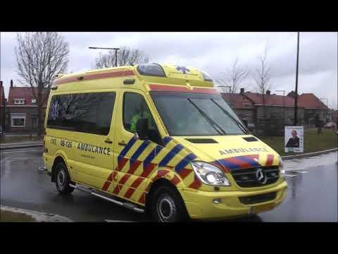 Brandweerambulance En Politie Met Spoed In Tiel Youtube
