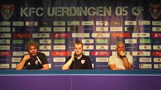 Uerdingerblock KFC Uerdingen - SV Meppen Pressekonferenz