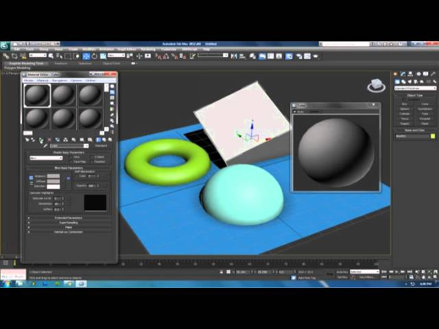 Tutorial : 3ds Max : Material Editor