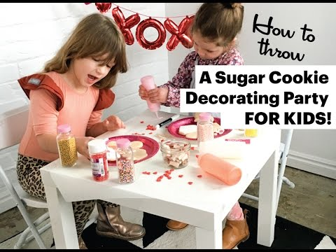 How To Throw A Sugar Cookie Decorating Party For Kids!