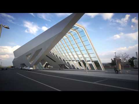 Napoli Afragola Station for high speed rail - Naples, Italy