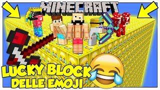 LA SFIDA DEI LUCKY BLOCK GIGANTI DELLE EMOJI! - Minecraft ITA