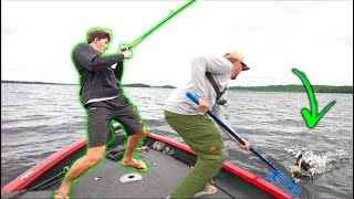 These Fish Are DANGEROUS! (Fishing Heavy Grass With BIG Baits)