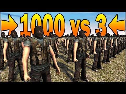 1000 TANGOS vs 3 .50 CALIBER SNIPERS - MISSION IMPOSSIBLE - Call to Arms Scenario #11