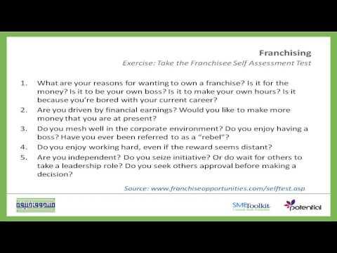 Exercise On Franchisee Self Assessment Test