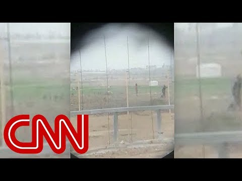 Video shows Israeli sniper shooting Palestinian
