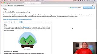Trix WYSIWYG Editor And File Uploads