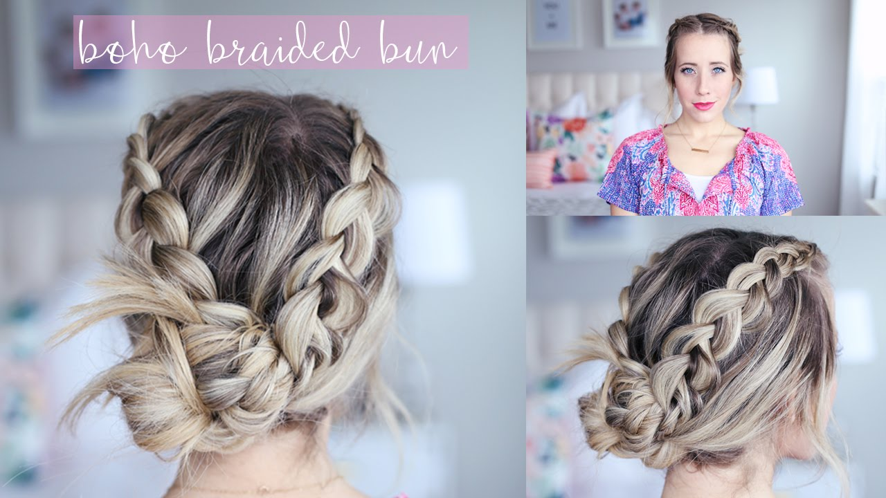 bohemian braided bun | twist me pretty