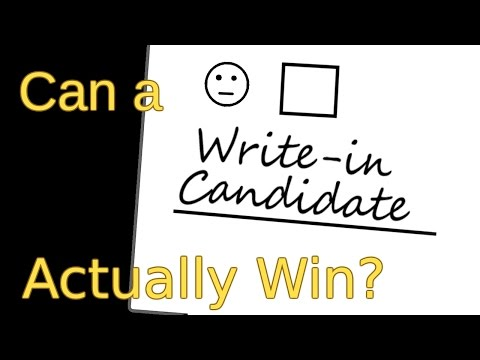Can a Write-In Candidate Actually Win?