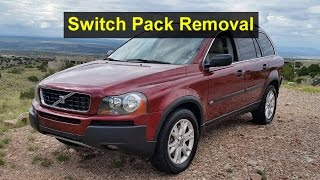 How to remove the switch pack from the drivers side door. Volvo XC90, P2 - VOTD